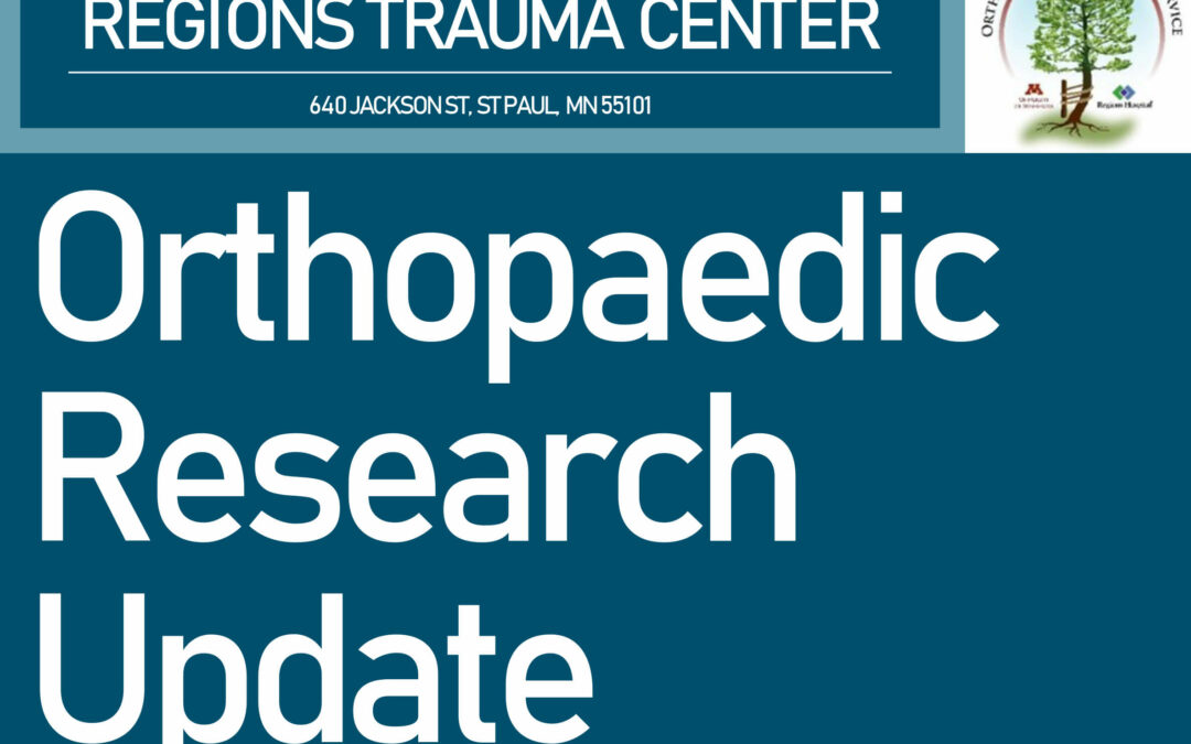 2019 Orthopaedic Research Update Feb – Nov 2019